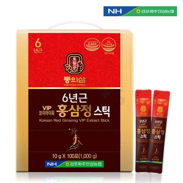 이미지_김포파주농협 동의삼 6년근 VIP 홍삼정스틱(100포) [A0526] + 쇼핑백포함