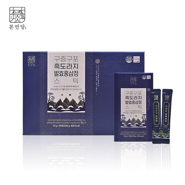 이미지_[9/23부터 순차배송] [본연담] 구증구포 흑도라지 발효홍삼정 스틱 10g x 30포